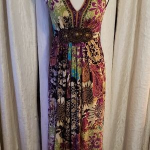 Dresses & Skirts - Brown Green Multicolored Maxi Dress
